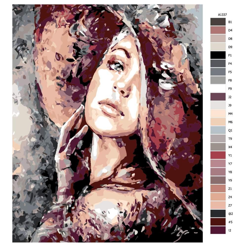 Návod pro malování podle čísel Elegance