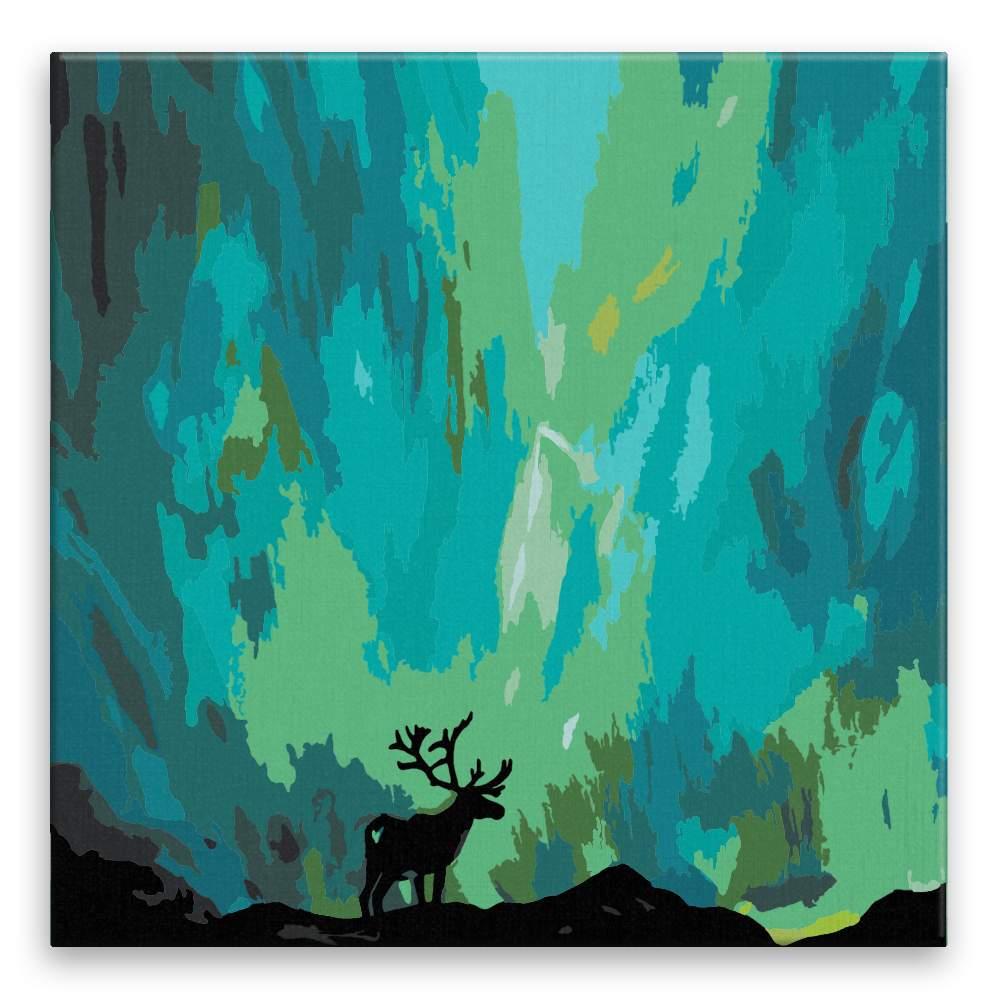 Malování podle čísel Los a polární záře