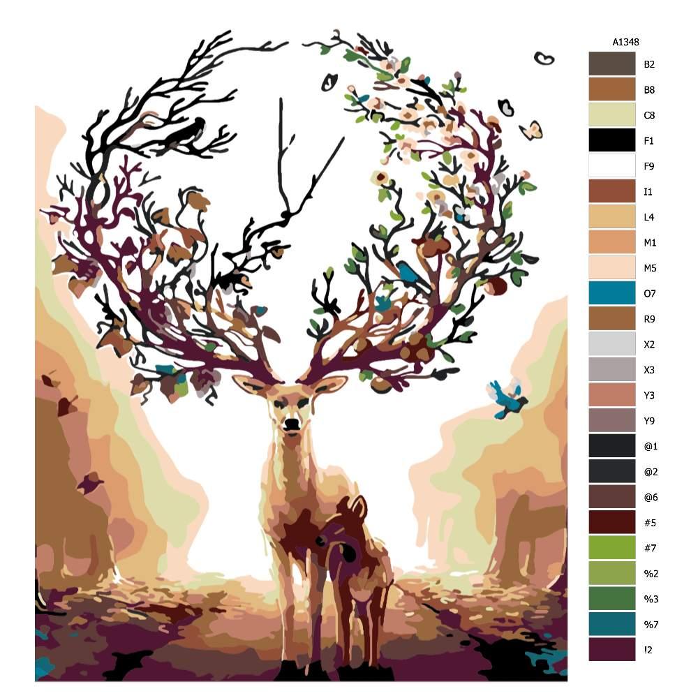 Malování podle čísel Los s korunou