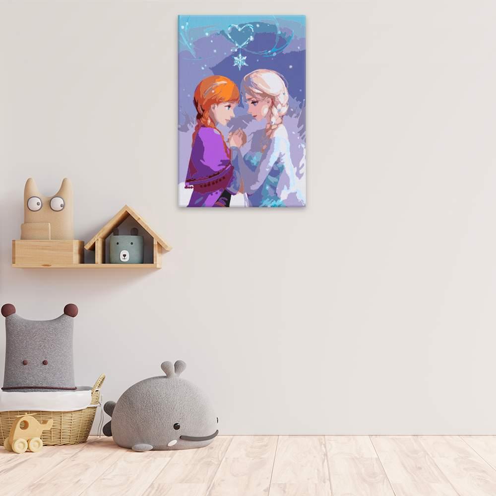 Malování podle čísel Elsa a Anna