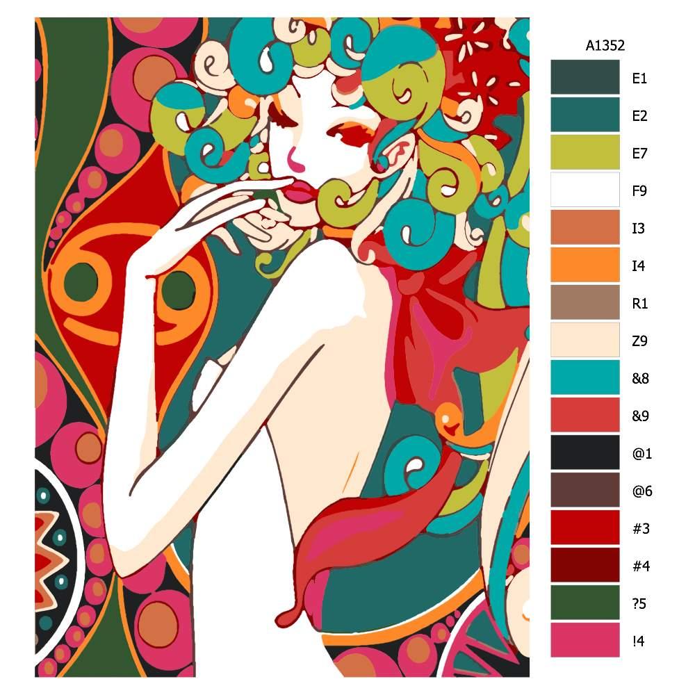 Návod pro malování podle čísel Okouzlující múzy