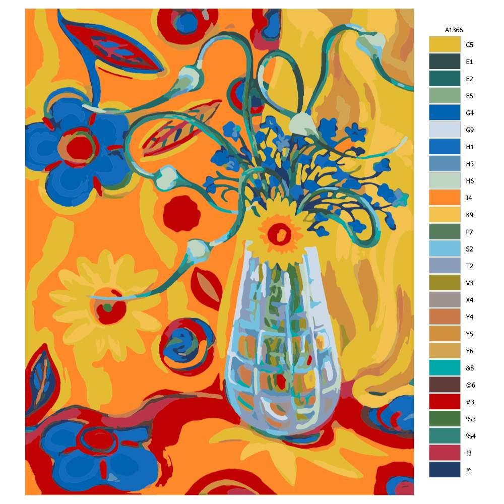 Malování podle čísel Květinová fantazie