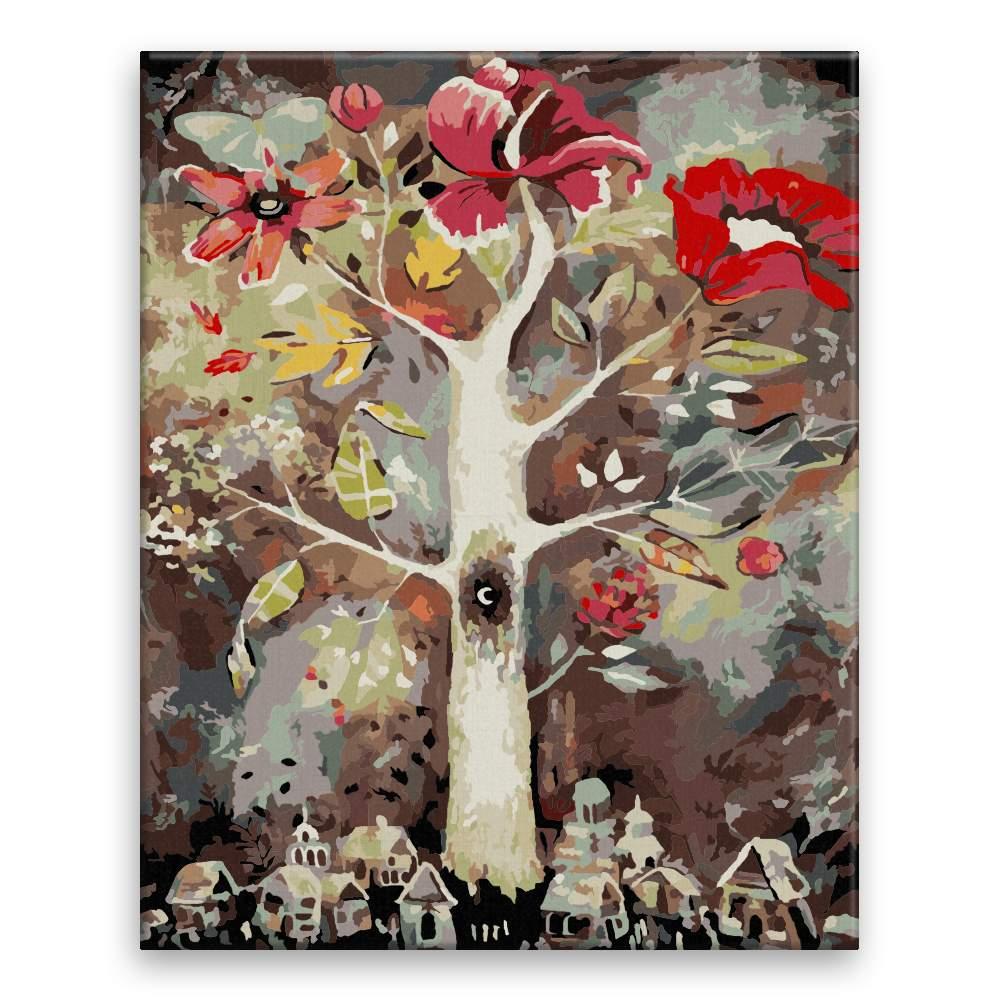 Malování podle čísel Strom fantazie