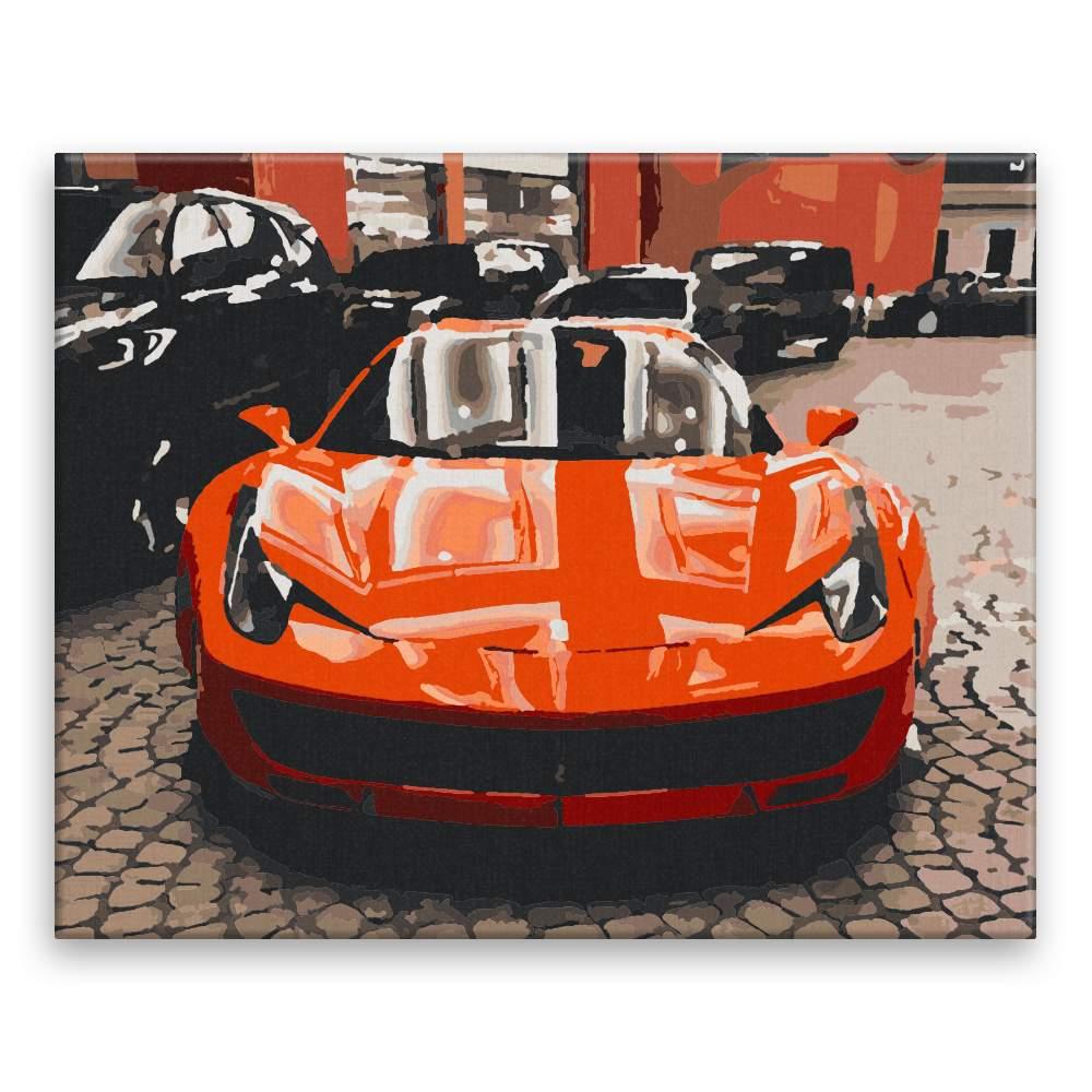 Malování podle čísel Červené Ferrari