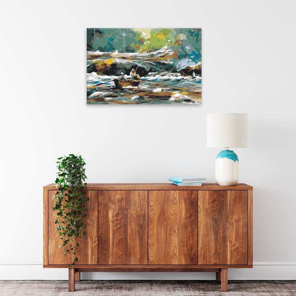 Malování podle čísel Rybaření z loďky