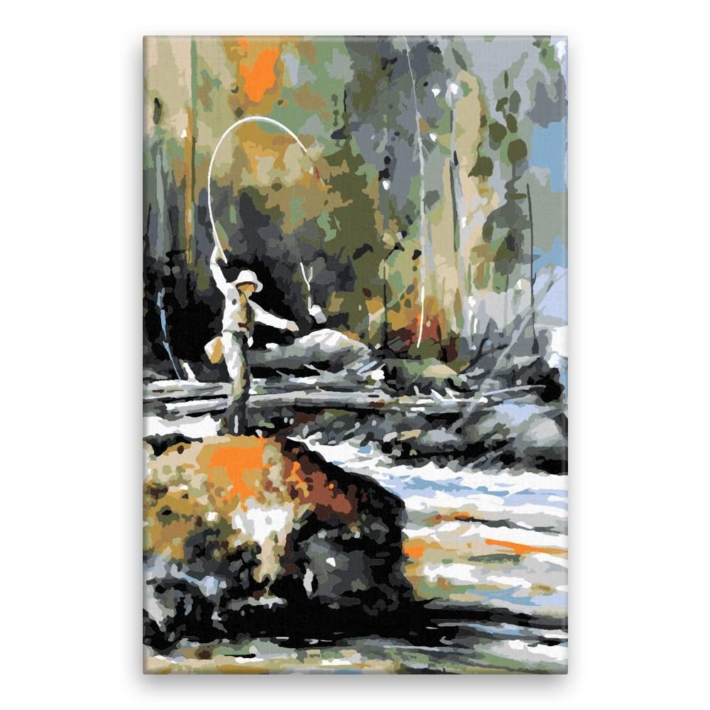 Malování podle čísel Rybář
