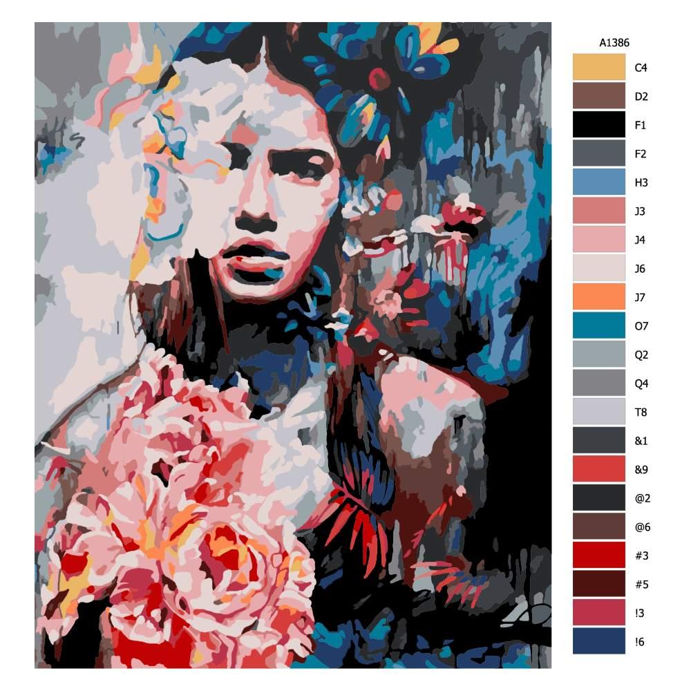 Návod pro malování podle čísel V pozadí