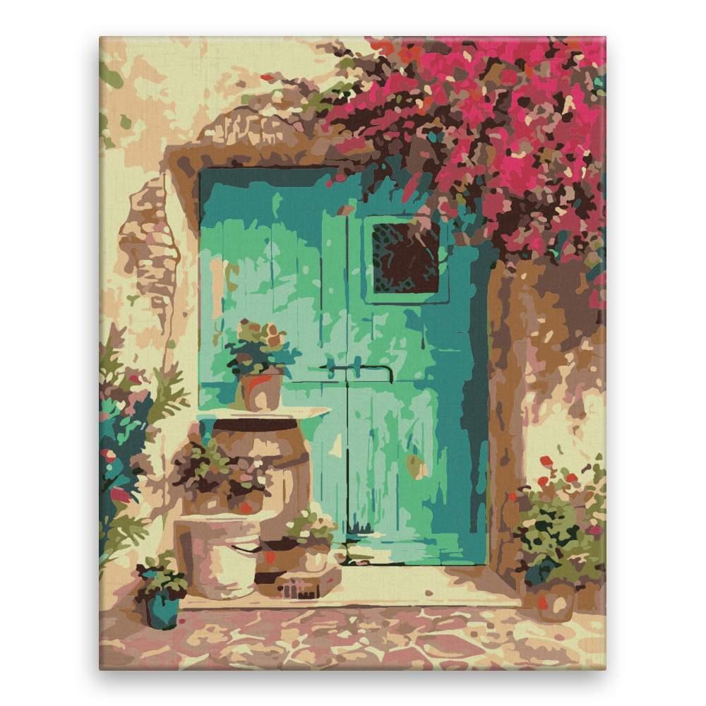 Malování podle čísel Kytky okolo dveří