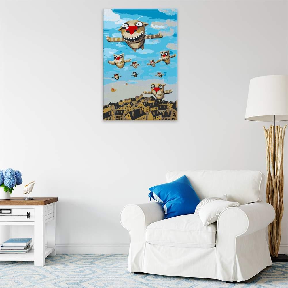 Malování podle čísel Létající kočky