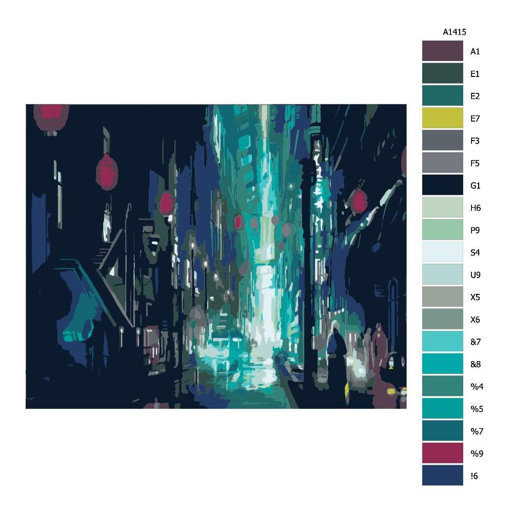 Návod pro malování podle čísel Tajemná ulice