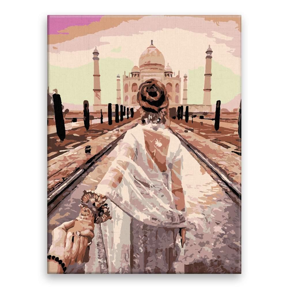 Malování podle čísel Pojď se mnou Taj Mahal