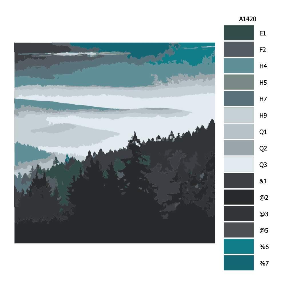 Malování podle čísel Výhled z posedu
