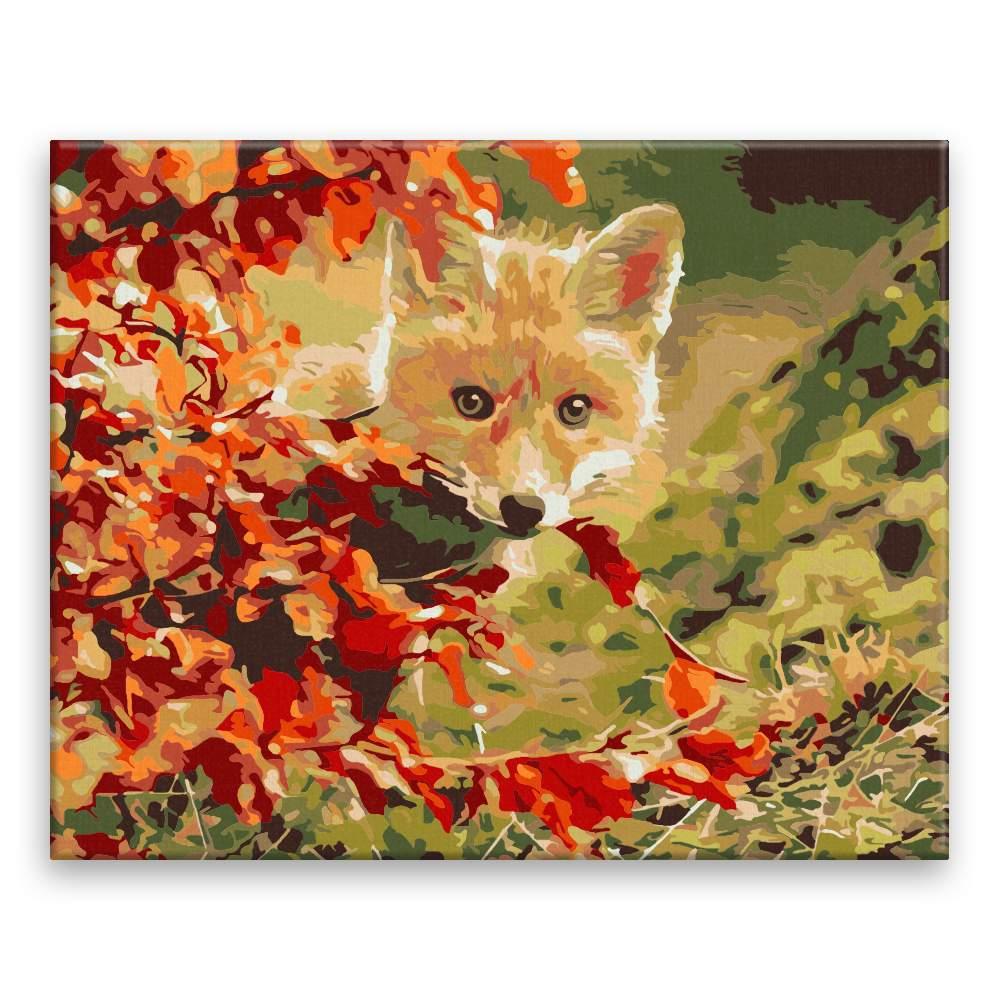 Malování podle čísel Liška za javorem