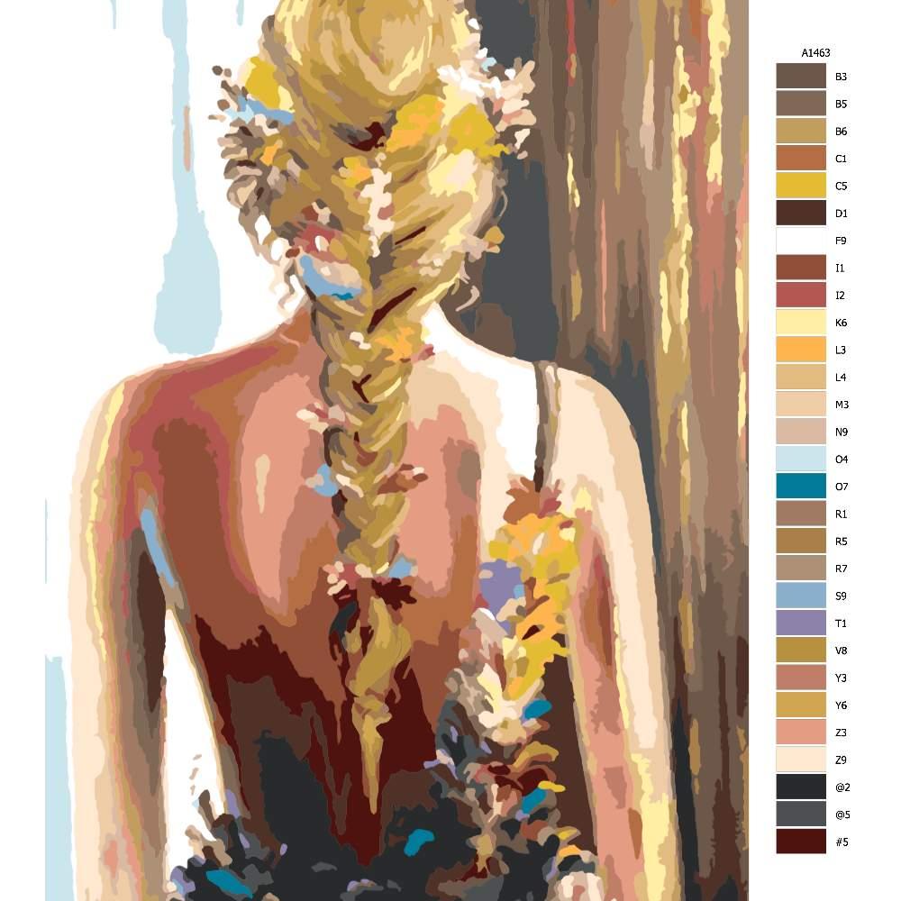 Malování podle čísel Květinové pozadí