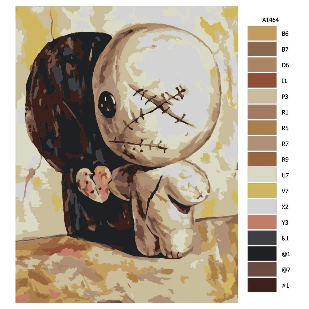 Návod pro malování podle čísel Daruj lásku