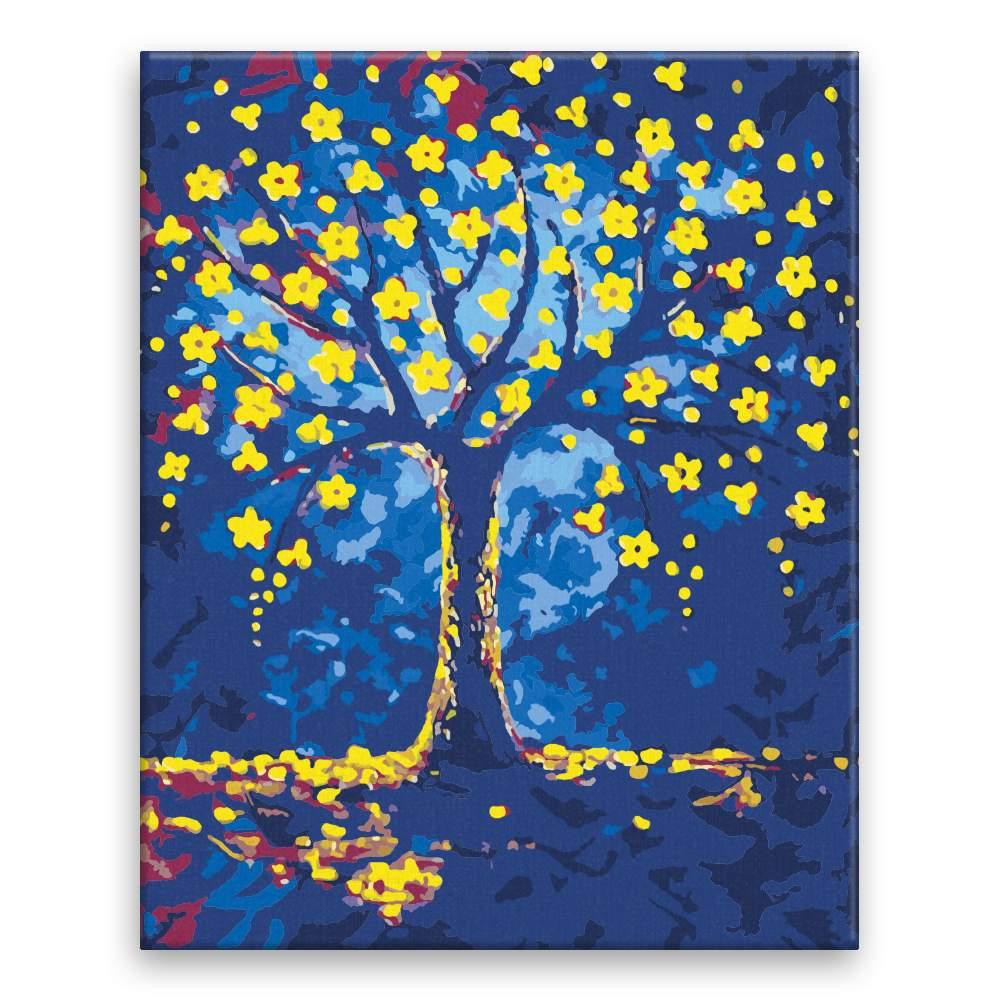 Malování podle čísel Zlaté květy