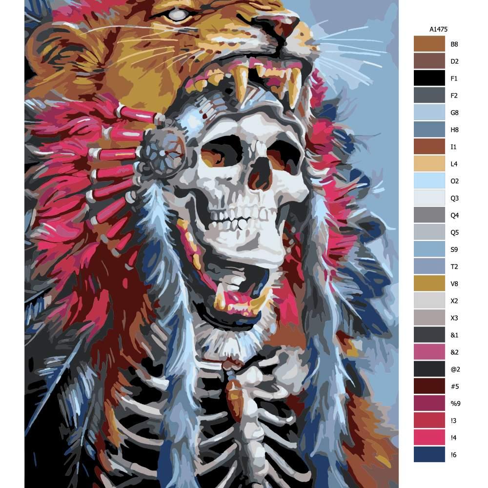 Návod pro malování podle čísel Mrtvý král