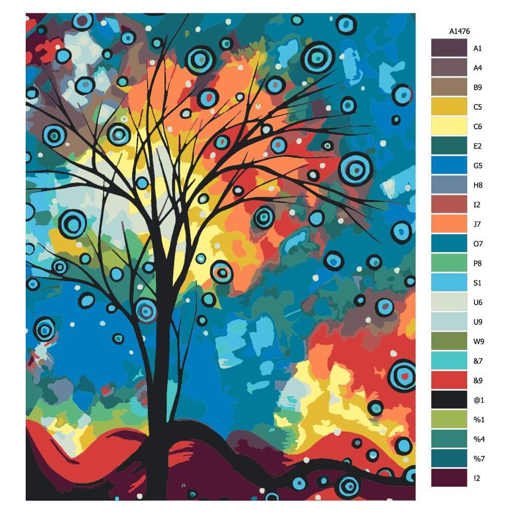 Návod pro malování podle čísel Pozdrav z oblak