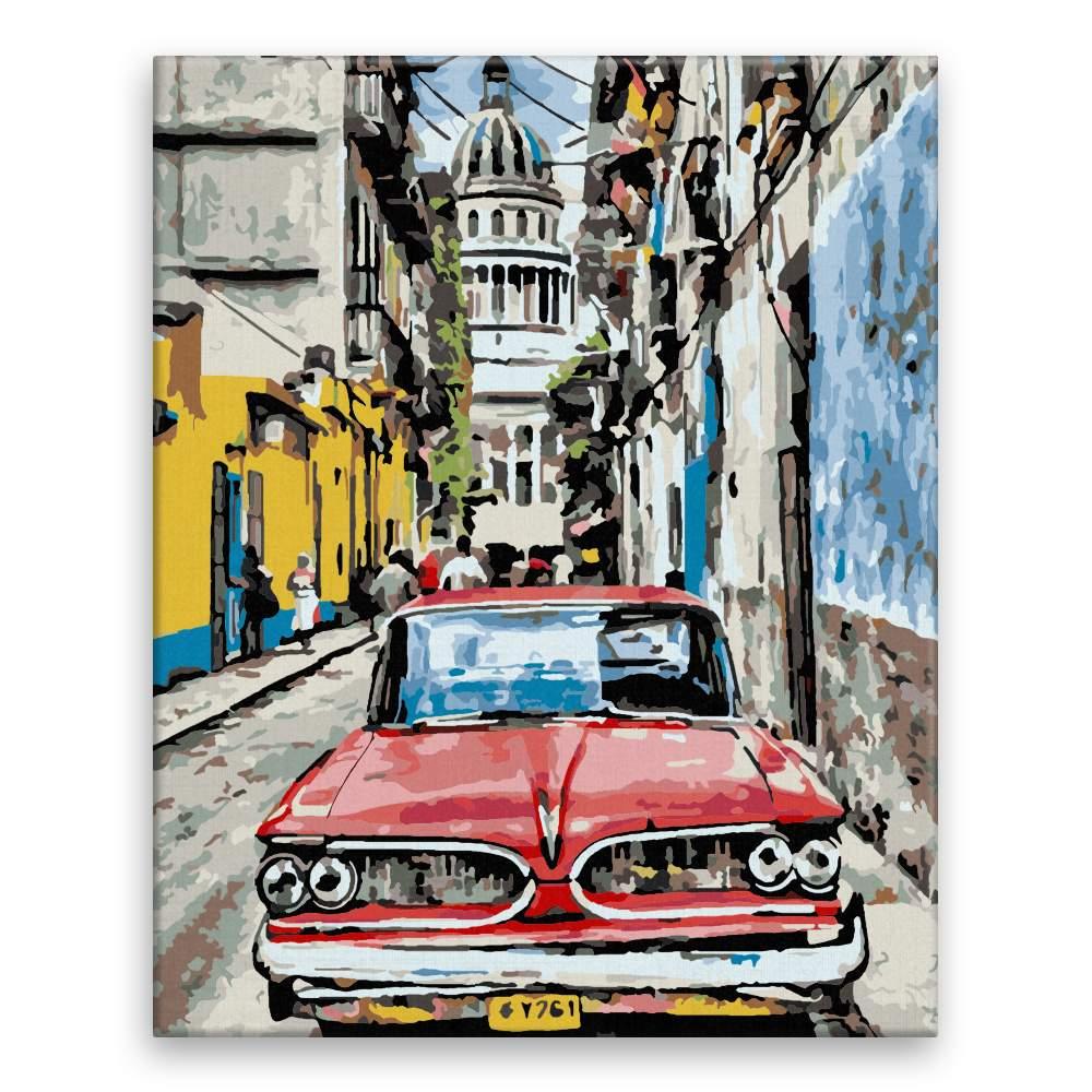 Malování podle čísel Na ulici v Havaně
