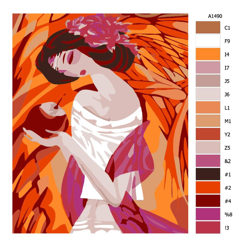 Návod pro malování podle čísel Pohled do nitra