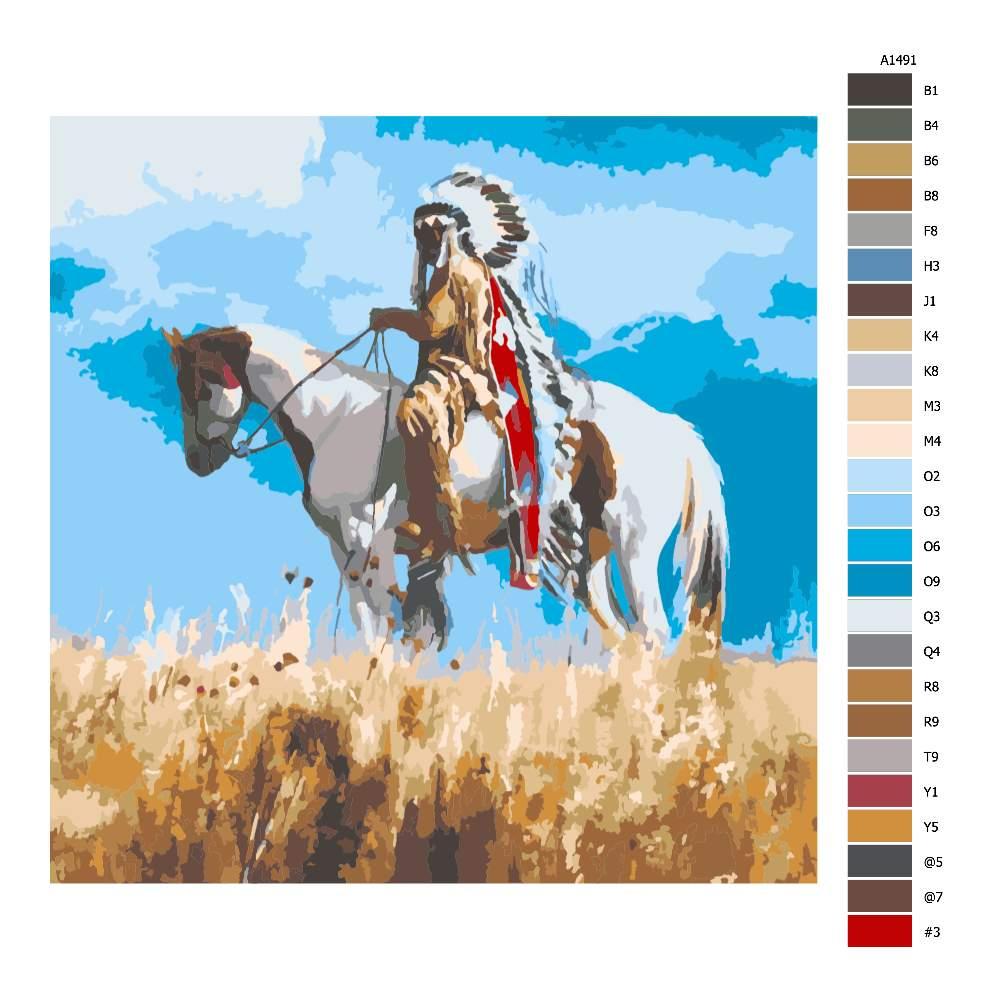 Malování podle čísel Indiánský náčelník