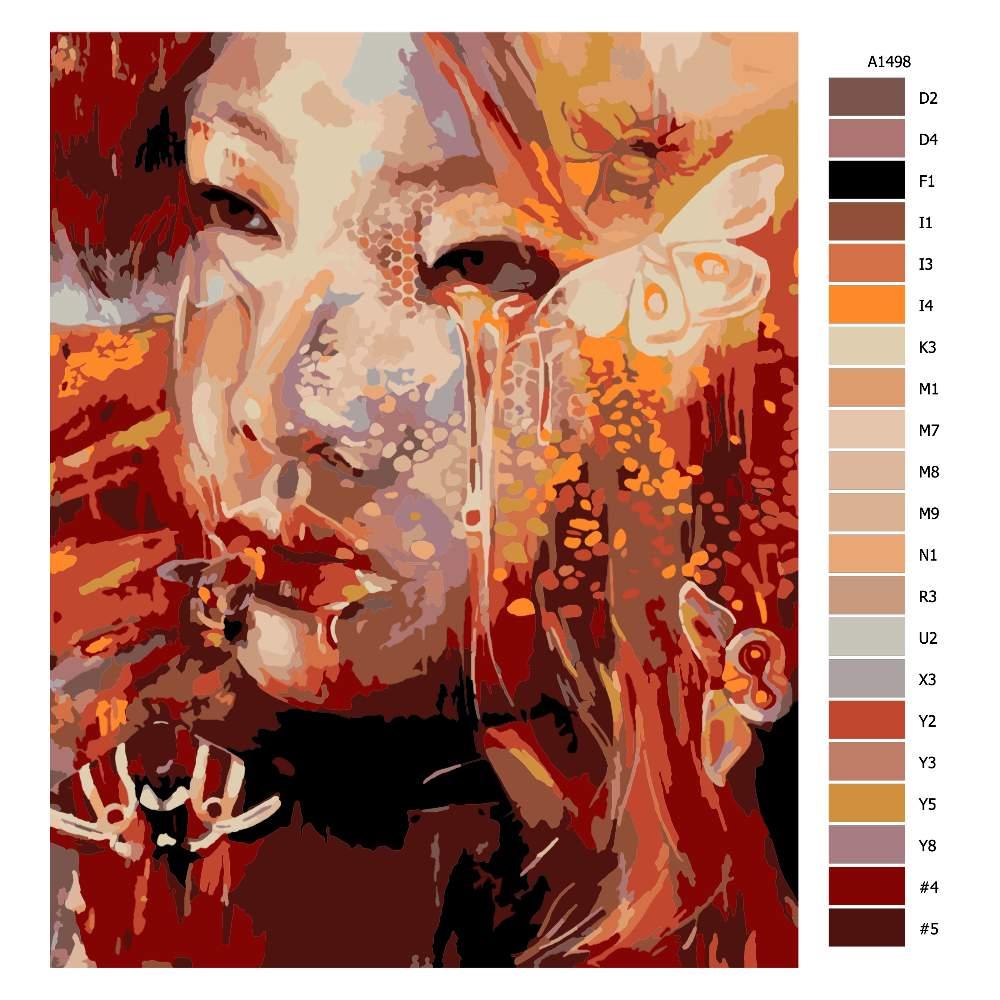 Návod pro malování podle čísel Medová