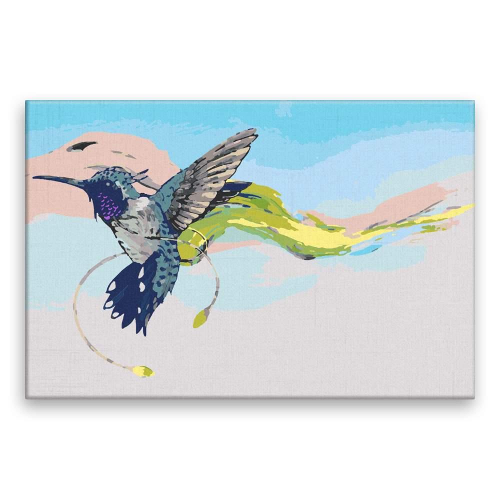 Malování podle čísel Kolibřík se závojem