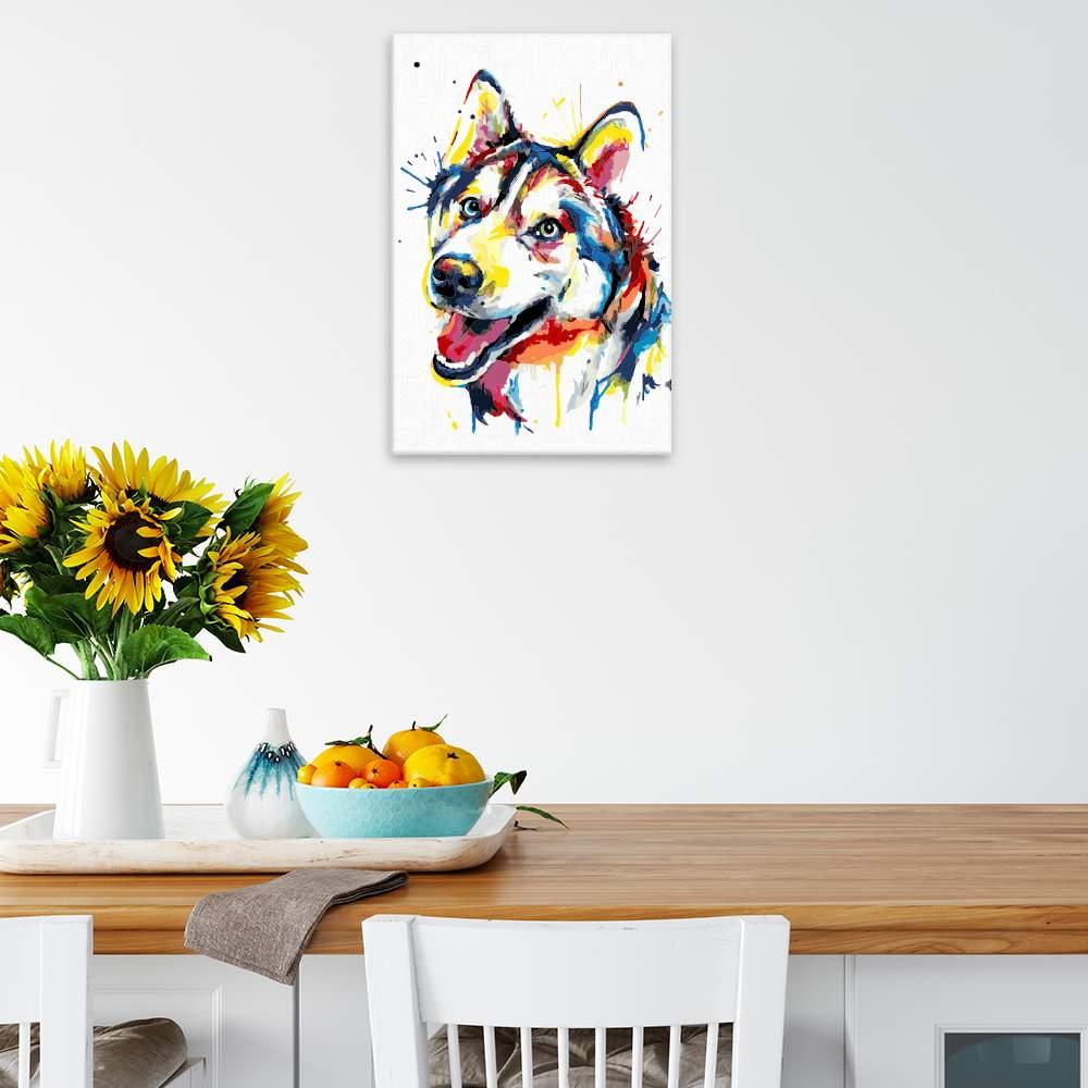 Malování podle čísel Husky v barvách