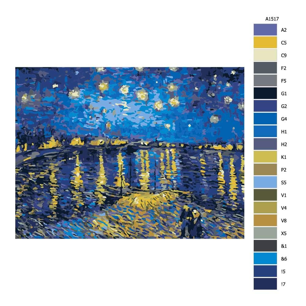 Malování podle čísel Ve svitu hvězd