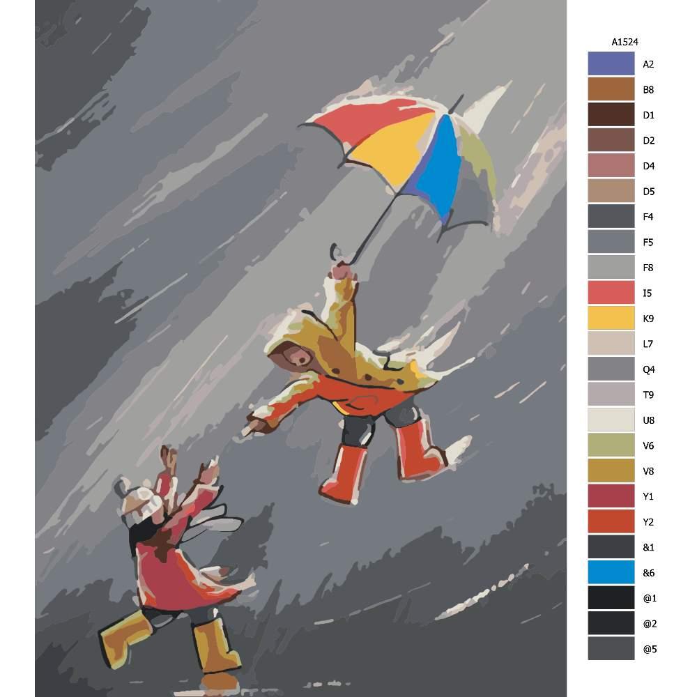 Malování podle čísel V nečase s přítelem
