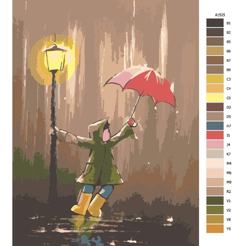 Návod pro malování podle čísel V nečase u lampy