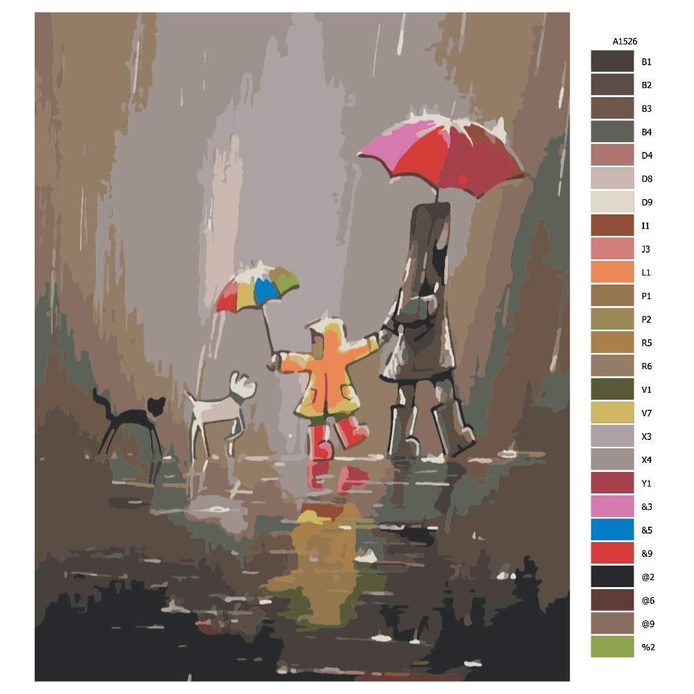 Malování podle čísel V nečase na procházce