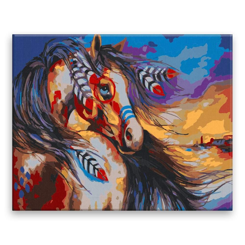 Malování podle čísel Indiánův kůň