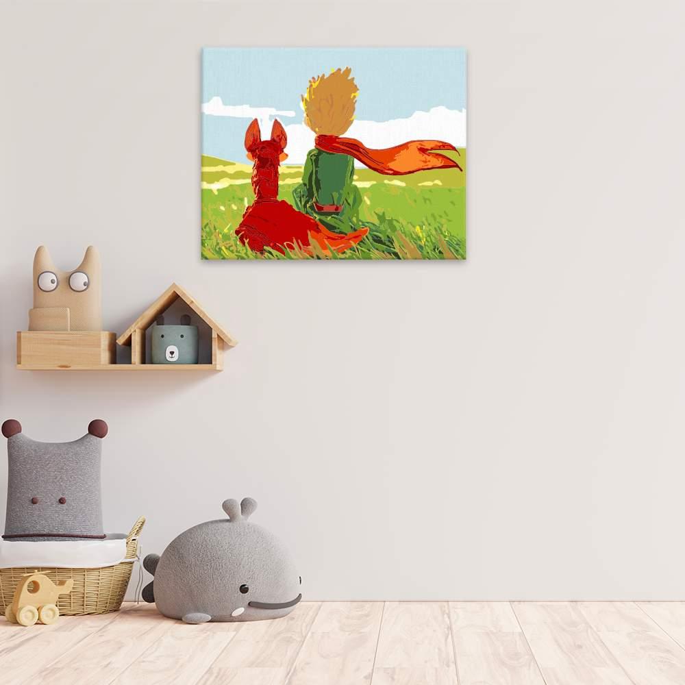 Malování podle čísel Malý princ