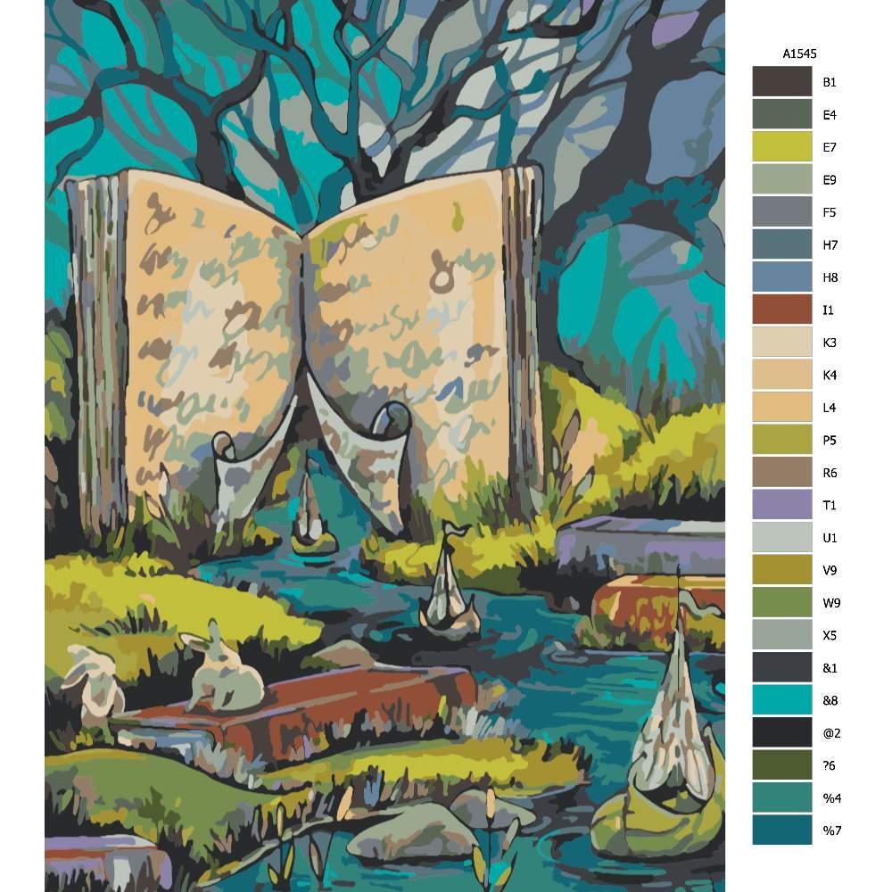 Malování podle čísel V knihách
