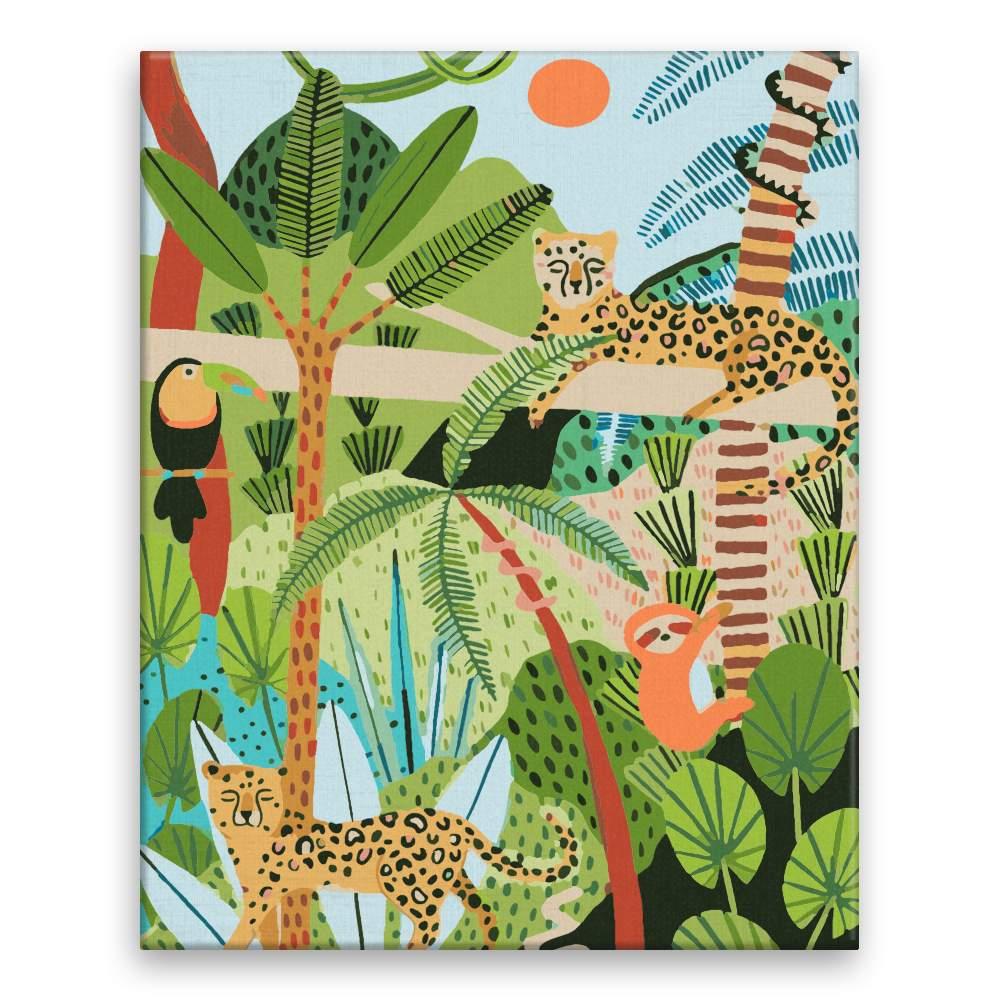 Malování podle čísel Kamarádí z jungle