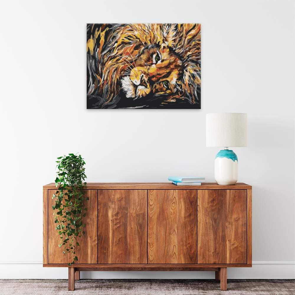 Malování podle čísel Lev pohodář