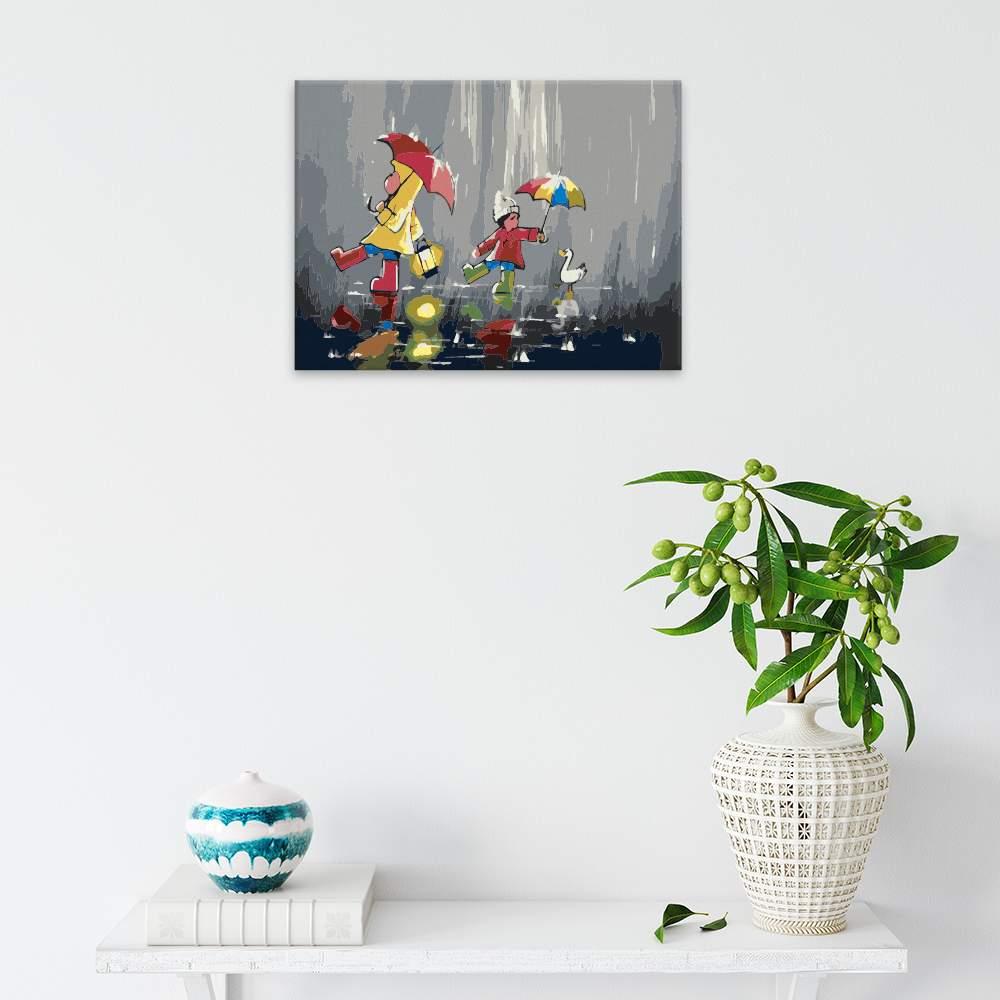Malování podle čísel V nečase s lampičkou a přáteli