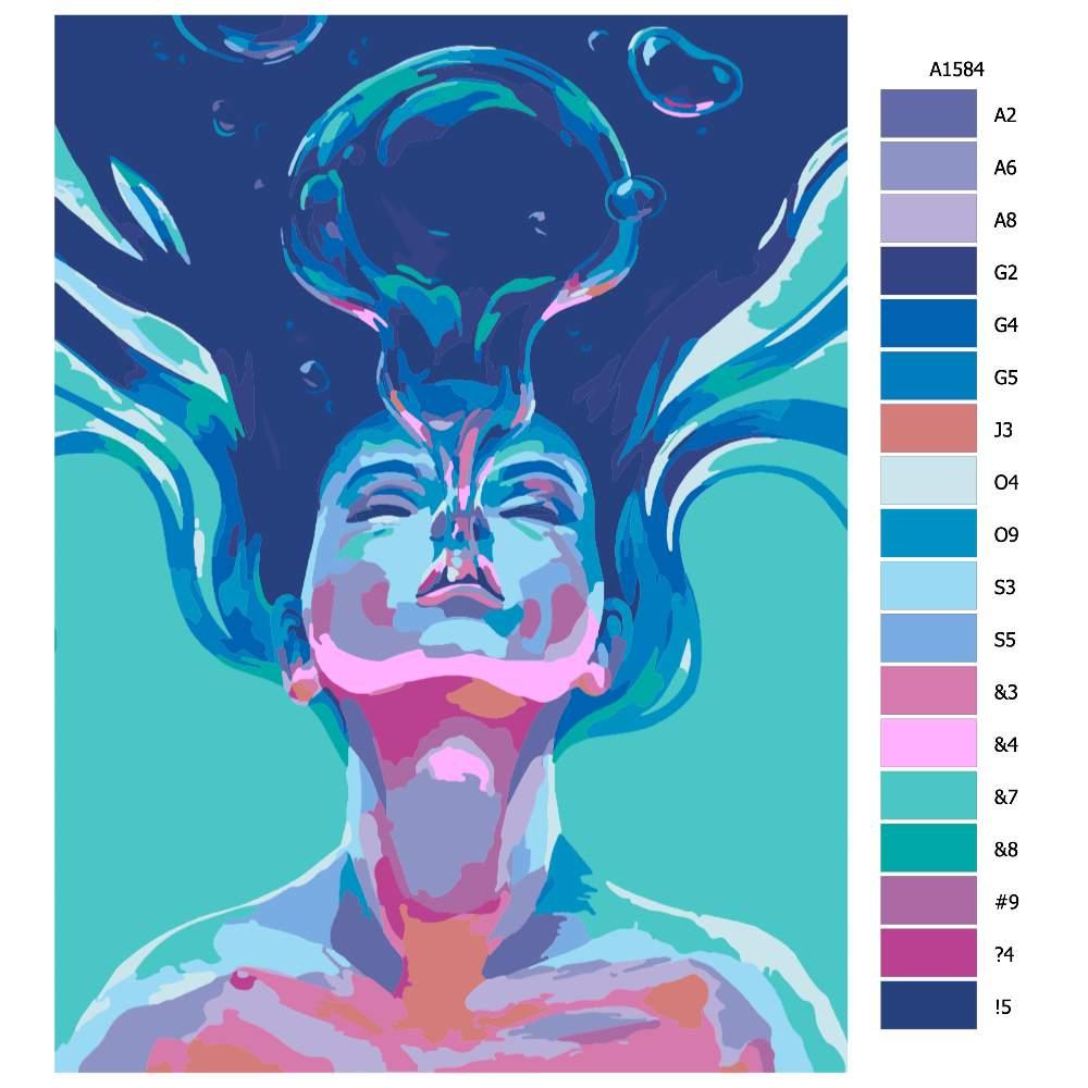Malování podle čísel Výdech
