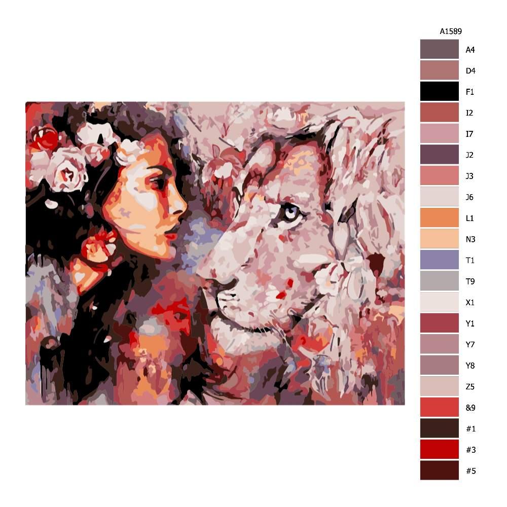 Návod pro malování podle čísel V pohledu krále