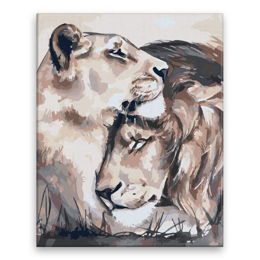 Malování podle čísel Lví láska