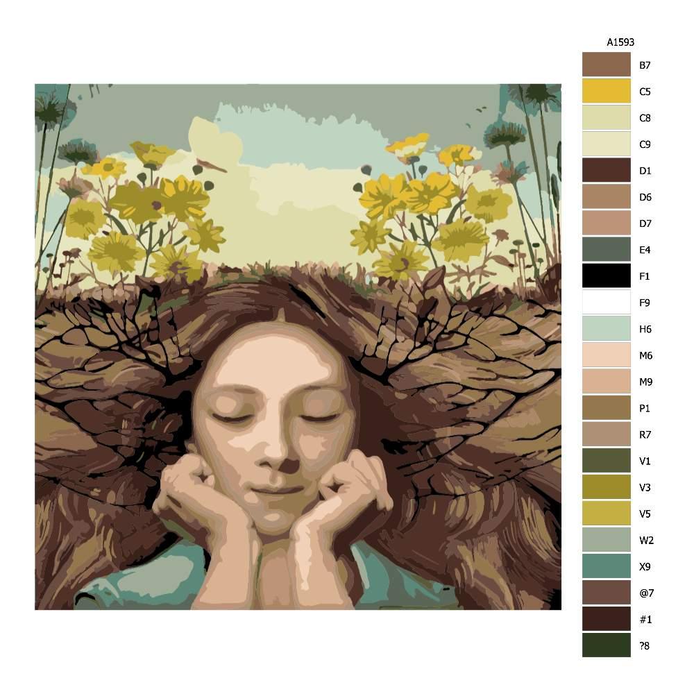Malování podle čísel Síla země