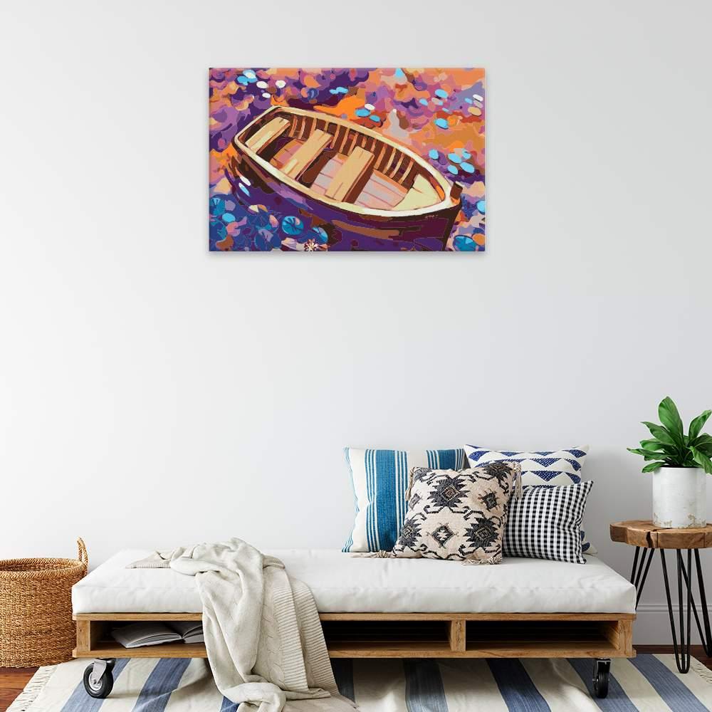 Malování podle čísel Opuštěná loďka