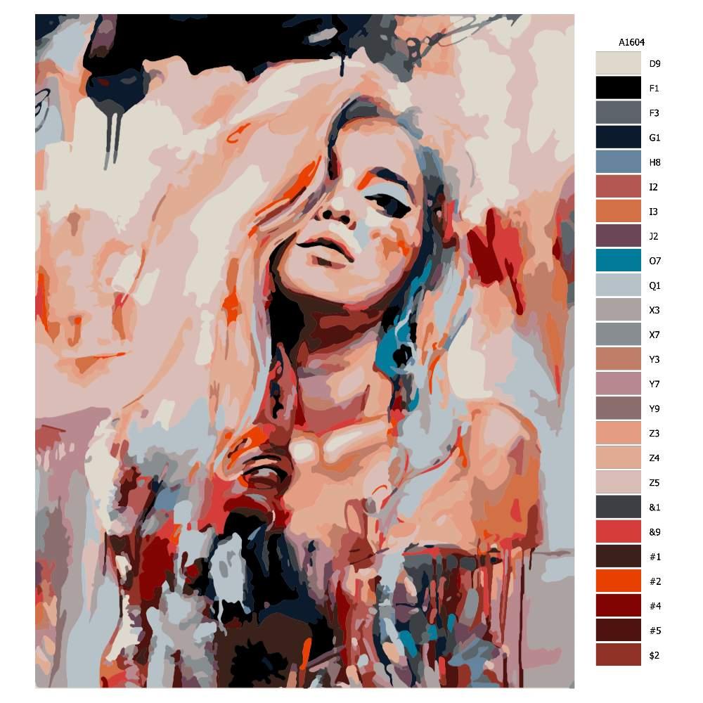 Návod pro malování podle čísel Uvolněná