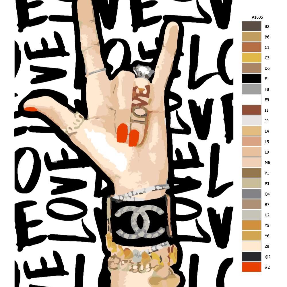 Návod pro malování podle čísel L