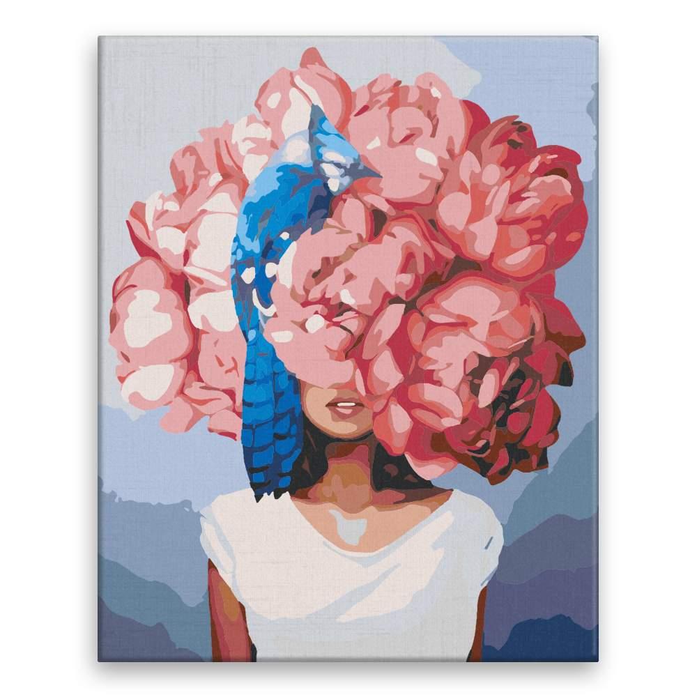 Malování podle čísel Hlava plná květů