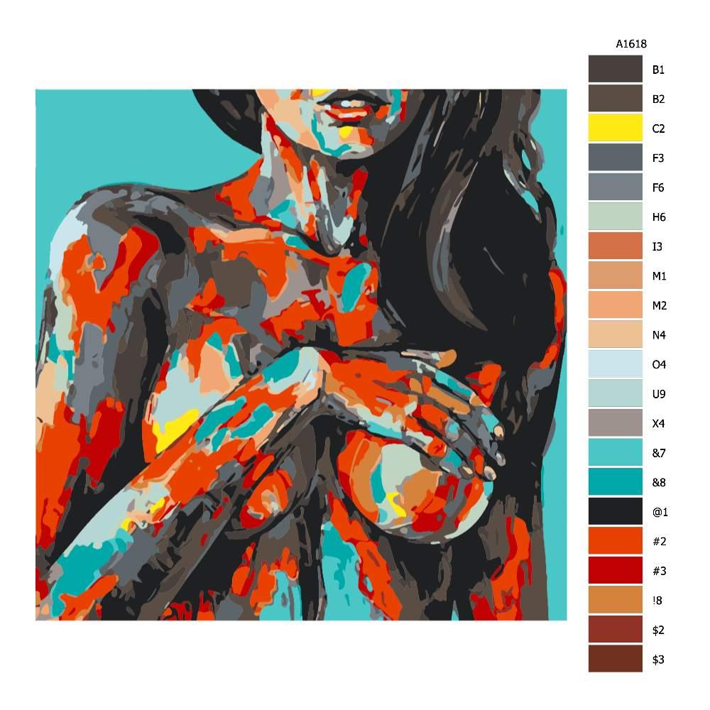 Malování podle čísel Zepředu v barvách