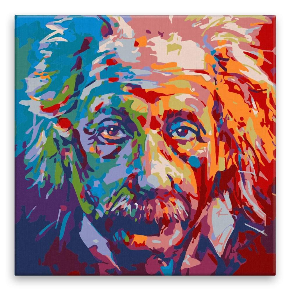 Malování podle čísel Albert Einstein v barvách
