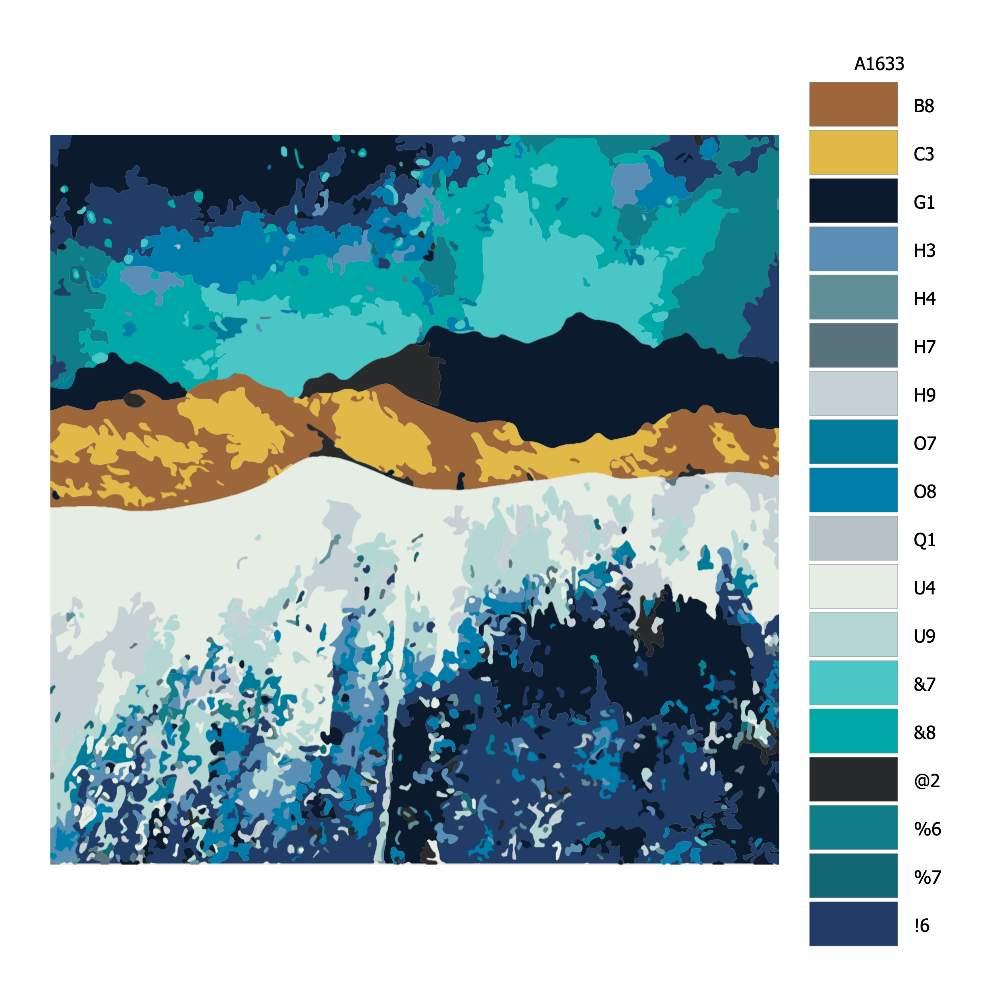Návod pro malování podle čísel Noční příliv