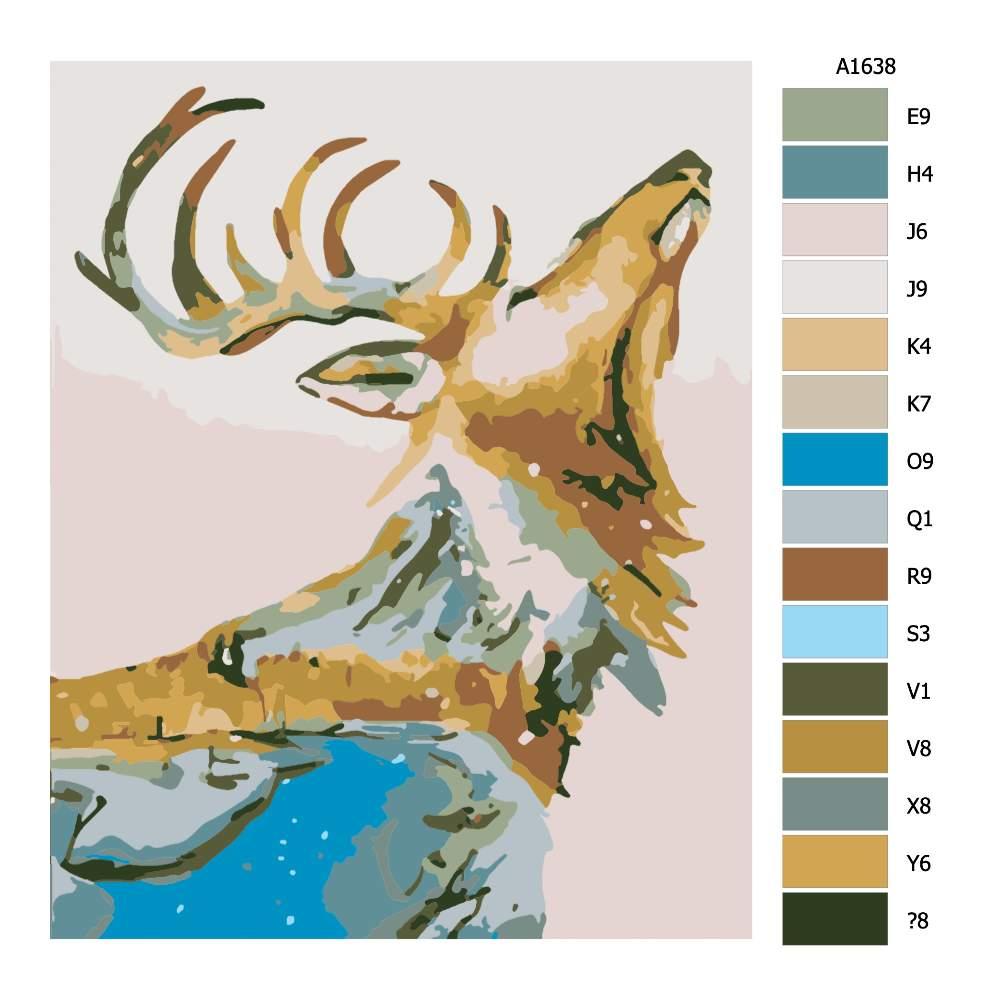 Návod pro malování podle čísel Volání lesa